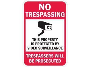 LYLE T1-1074-EG_12x18 Property Sign,No Trespass,18 x 12 In