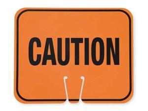 ZORO SELECT 03-550-C Traffic Cone Sign,Orange/Black,Caution