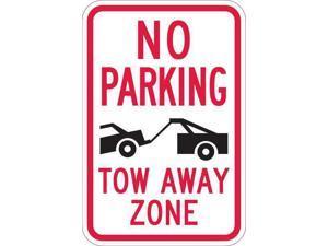 "LYLE T1-1052-HI_12x18 Tow Zone No Parking Sign, 12"" W, 18"" H, English,"