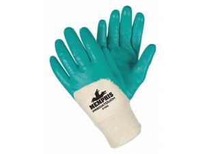 Mcr Safety Smooth Nitrile Coated Gloves, Glove Size: XL, Green Green   9790XL