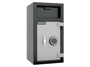 MESA SAFE COMPANY MFL2714EILK Cash Depository Safe, 1.3 cu ft, 122 lb, Two Tone