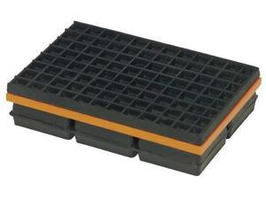 MASON 2LVP1 Vibration Isolation Pad,4x4x1 1/4 In