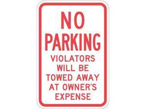 "LYLE T1-1057-EG_12x18 Tow Zone No Parking Sign, 12"" W, 18"" H, English,"