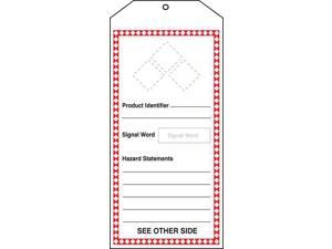 ACCUFORM THS401PTM GHS Tags,Prod Identif,8-1/2x3-7/8In,PK5