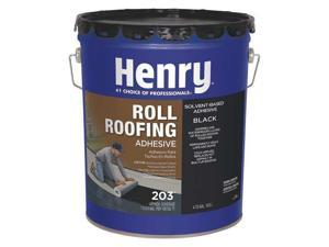 HENRY HE203071 Roll Roofing Adhesive, 5 gal, Pail, Black