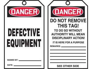 ACCUFORM TAR102 Danger Tag By The Roll,6-1/4 x 3,PK100