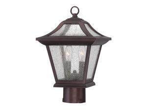 ACCLAIM LIGHTING 39017ABZ Post Mount Light,2-Light,Arch. Bronze