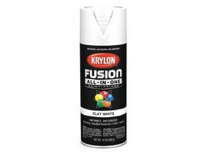Krylon Fusion All-In-One Flat Spray Paint & Primer, White K02730007