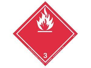LABELMASTER HC6 Flammable Liquid Label,100mmx100mm,500