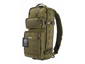 Loaded Gear  BI12326 GX-300 Tactical Sling Backpack - Green