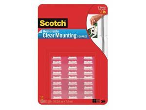 """Scotch Mounting Squares Precut Removable 11/16"""" x 11/16"""" Clear 35/Pack 859"""
