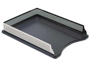 Rolodex Distinctions Self-Stacking Letter Desk Tray Metal/Black E23565