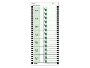 Lathem Weekly Attendance Card 1 PK