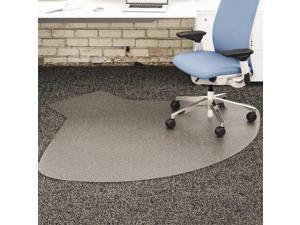 Deflecto SuperMat Frequent Use Chair Mat Medium Pile Carpet Straight 60x66 w/Lip