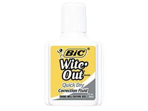 Bic Wite-Out Quick Dry Correction Fluid 20 ml Bottle White 1/Dozen WOFQD12WE