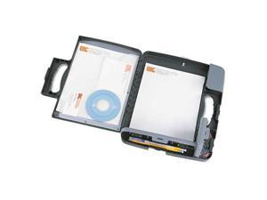 """Portable Storage Clipboard Case, 3/4"""" Capacity, Holds 9w X 12h, Charcoal"""