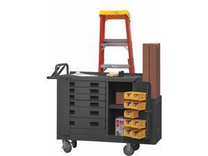 DURHAM MFG 2211-DLP-6DR-RM-9B-95 Mobile Workbench,2000 lb,52-3/4inL,19inW