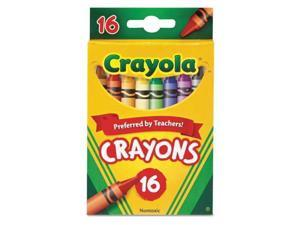 Classic Color Crayons, Peggable Retail Pack, 16 Colors 52-3016