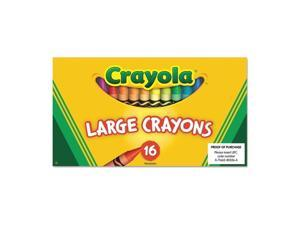 Crayola. 520336 Large Crayons, 16 Colors/Box