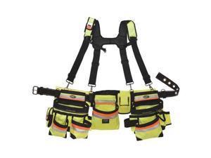 Bucket Boss 55185-HVOY Hi-Vis 3 Bag Framer's Rig