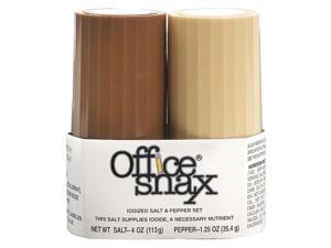 Office Snax 00057 4 oz Salt, 1.5 oz Pepper Condiment Set