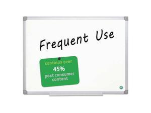 MasterVision BVCMA0307790 Earth Gold Ultra Magnetic Dry Erase Boards, 24 x 36, White, Aluminum Frame, 1 Each