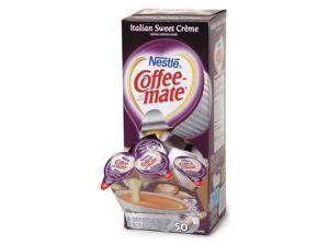 Coffee-mate Liquid Coffee Creamer Italian Sweet Creme 0.375 oz Cups 50/Box 84652