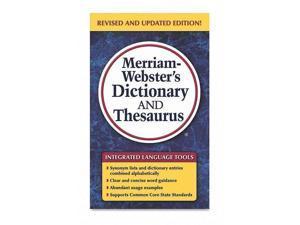Merriam-Webster Merriam Websters Dictionary/Theasaurus Ast 8637