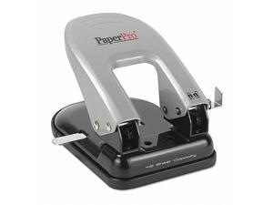 Indulge Two-Hole Punch, 40-Sheet Capacity, Black/silver