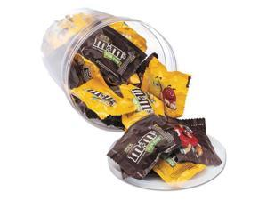 Office Snax OFX00066 Candy Tubs, Chocolate And Peanut M&Ms, 1.75 Lb Resealable Plastic Tub