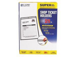 Shop Ticket Holders, Stitched, Both Sides Clear, 75 Sheets, 9 x 12, 25/Box 46912
