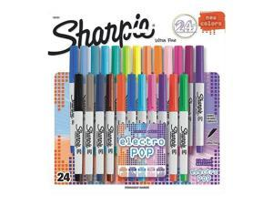 Sharpie Permanent Markers Ultra Fine Point 80's Glam 24-pk