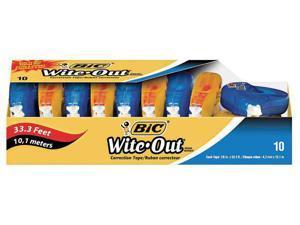 "BIC Wite-Out EZ Correct Correction Tape Non-Refillable 1/6"" x 472"" 10/Box"