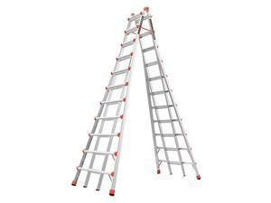 LITTLE GIANT 10121 20-1/2ft. Telescoping Step Ladder, IA, Alm
