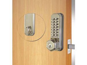 Codelocks 814913 Stainless Steel Mechanical Deadbolt Keypad Door Lever
