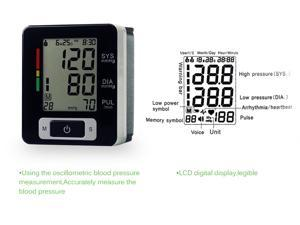 Automatic Digital Wrist Blood Pressure and Pulse Monitor Sphygmomanometer Portable Blood Pressure Monitor