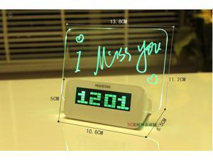 Green LED Luminous Luminova Message Board Digital Alarm Clock With Calendar Despertador LED Clock