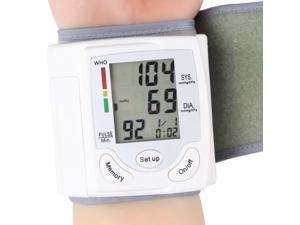 Automatic LCD Display Digital Wrist Cuff Blood Pressure Monitor Arm Meter Pulse Sphygmomanometer Heart Beat Meter CK-101S