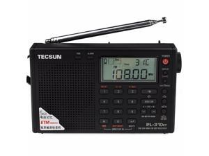 Tecsun PL-310ET DSP World Band Radio Receiver with ETM/ ATS/FM/MW/SW /LW Black Radio Black