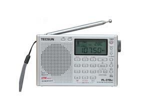 Tecsun PL-310ET DSP World Band Radio Receiver with ETM/ ATS/FM/MW/SW /LW Black Radio Silver