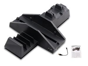 4 in 1 PS4 Vertical Cooling Cooler Fan Stand Dual Charging Dock Station TP4-021 for Sony Playstaion 4 / Dualshock Controllers