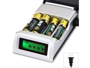 Universal C905W 4 Slots LCD Display Smart Intelligent Li-ion Battery Charger for AA/AAA NiCd NiMh Rechargeable Batteries US Plug
