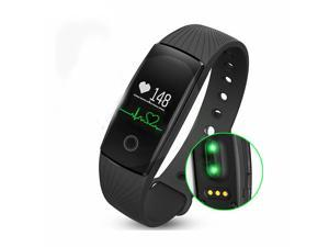ID107 Bluetooth Fitness Bracelet Heart Rate Monitor Smart Band Activity Tracker Wristband for iOS Android