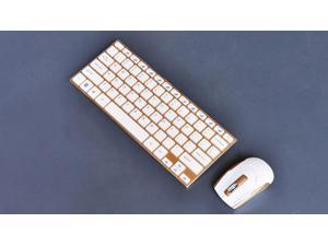 New Fashion Stainless Steel 2.4GHz 10 Meters Operating Distance Portable Laptop Computer Mini Wireless Keyboard And Mouse Combos HK3910
