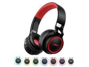 Picun P60 Wireless Gaming Headset Bluetooth Headphones Support 7 Colors Glowing Headphone with Mic for Running for Phone PC MP3