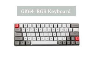 Metal Case GK64 Mini Mechanical Keyboard Custom RGB Lights Directiion Key with Sublimation PBT Keycap Cherry MX RGB Switch