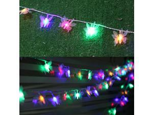 Butterfly Wedding Decoration 10M 80 LED String Strip Holiday Festival Lights For Fairy Lights Christmas Xmas Party Outdoor
