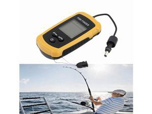 Valuetom Fishing Tackle Fish Finder Portable Sonar Wired LED Fish depth Detector Alarm 100M AP Electronic