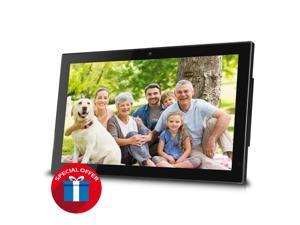 """Sungale 14"""" Smart WiFi Cloud Digital Photo Frame, Built-in Camera, free Cloud storage, real-time photos, Movie, Social Media, Browser, all apps"""