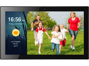 """Sungale 19"""" Smart WiFi Cloud Digital Photo Frame w/ Built-in Camera, Real-Time Photos"""
